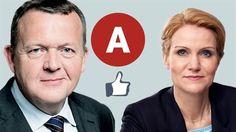 Første uge i Facebook-valget: Løkkes Panorama-tanker slår Thornings profilbillede 3/6-15