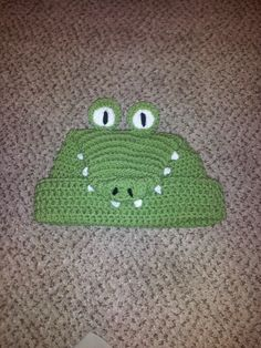 crochet alligator beanie by Mottley Creations♪ ♪ ... #inspiration_crochet #diy GB