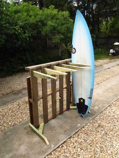 Low/No budget surfboard rack to keeps your boards sorted at home. Materials- recycled where possible 1. Wooden pallet that would be rubbish 2. building timbers 75mm x 35mm x 4m total 3. 100mm batten screws x 20