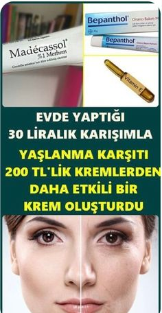 Evde yapabileceğiniz 3 malzemeli bu krem karışımı bir çok kozmetik firmas… This cream mixture with 3 ingredients you can make at home is more effective than skin care creams of many cosmetic companies. You should definitely try to have beautiful skin. Beauty Care, Hair Beauty, Les Rides, Cosmetic Companies, Skin Care Cream, Skin Care Treatments, Sephora, Facial Care, Natural Skin Care