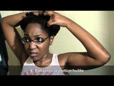 Comment faire un bain d'huile sur cheveux crépus - YouTube