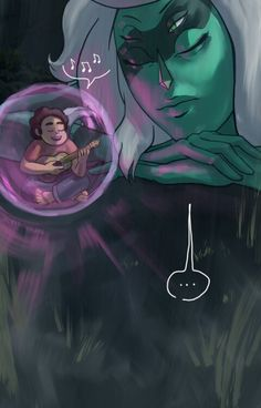 Steven visiting Malachite by thedarkintothelighttumblr.com (2 of 3)