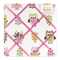 Sweet JoJo Designs Pink Happy Owl Fabric Bulletin Board | Overstock.com