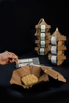 Not sure how practical this is but I really like the packaging concept. Food for thought (LOL).
