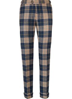 Suitsupply Pants : Inject some pep into your wardrobe and mix things up with our tailored pants and washed chinos with charm in its detailing. Mens Plaid Pants, Mens Clothing Styles, Men's Clothing, Mens Fashion, Fashion Outfits, Fishtail, Trousers, Neon Joe, Pajama Pants