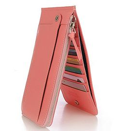DrAnison Women Wallet Genuine Leather Zipper Card Case Purse >>> Continue to the product at the image link.