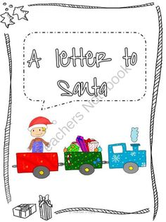 FREE Template A letter to Santa from Teacher Resources on TeachersNotebook.com -  (4 pages)