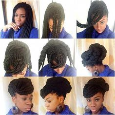 All styles of box braids to sublimate her hair afro On long box braids, everything is allowed! For fans of all kinds of buns, Afro braids in XXL bun bun work as well as the low glamorous bun Zoe Kravitz. Braided Hairstyles Updo, Try On Hairstyles, Braided Hairstyles For Black Women, My Hairstyle, Braided Updo, Updos, Small Box Braids Hairstyles, Pixie Hairstyles, Trendy Hairstyles