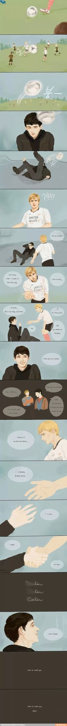 What happened if merlin met modern day Arthur.... total Fangirl moment!!!