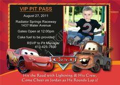 FREE Printable Cars Invitations 4 per sheet cars invitations