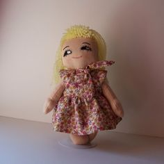 Child Friendly Cotton Cloth Doll Donna by heartscontent on Etsy, $25.00