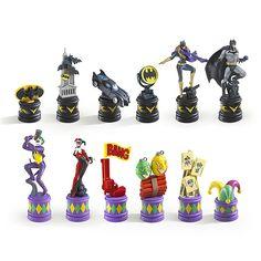 Batman Dark Knight vs. The Joker Chess Set