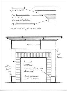 Design & profiles for the WindsorONE Greek Revival Mantel.