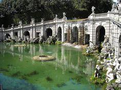 "Fountain of Aeol (""AIR"") - 1779-1785 - Architect Luigi Vanvitelli - Sculptors Angelo Brunelli, Gaetano Salomone, Andrea Violani, Paolo Persico, Pietro Solari - The Royal Gardens of Caserta"