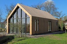 Converted Barn House by Architect Peter van Woerden Shed Homes, Prefab Homes, Modern Barn, Modern Farmhouse, House Extensions, House In The Woods, Cabana, Building A House, Architecture Design