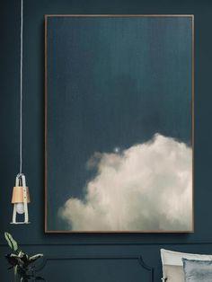 cumulus ii cloud painting cloud painting and abstract art by corinne melanie Diy Wall Art, Framed Wall Art, Canvas Wall Art, Large Canvas Art, Painted Wall Art, Teal Wall Art, Teal Art, Large Art Prints, Painted Walls