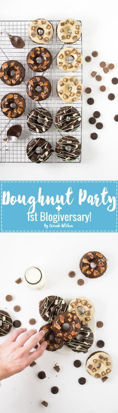 To celebrate Crumb Kitchen's 1st Blogiversary, learn how to make 3 types of sinful chocolate doughnuts in today's decadent doughnut party! | Crumb Kitchen