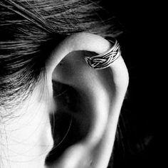 925 Silver Braided Ear Cuff non pierced earring ear jewelry, Oxidized Ear Cuff, Silver Ear Cuff Earrings, simple Ear Cuff, Ear Cuff Earrings