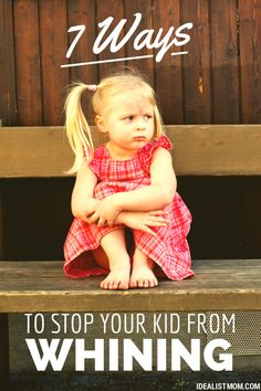 """7 Ways to Stop Your Kid From Whining: - avoid  get to that point if seeking attention - empathize & offer an option """"lets add toy to your birthday list or save allowance"""" = delay gratification - replay it at a calm time """"do you like mommys sour voice or sweet voice"""" - positive reinforcement """"my ears love that voice / thanks for using normal voice"""" - don't ignore it, they'll outlast you - be playful: """"here, pour your whine into this cup and bring me your normal voice."""" or whisper your answer back"""