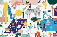 It's Nice That : Illustration: Spot the artists in Nous Vous' enormous drawing for the Walker Art Centre