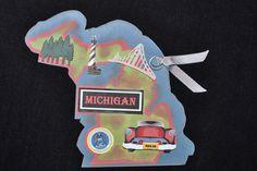 Michigan State Tag by PurpleRidge on Etsy