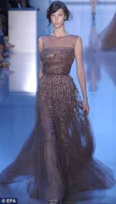 Paris Couture Week! Elie Saab unveils new collection with gowns fit for the red carpet | Mail Online