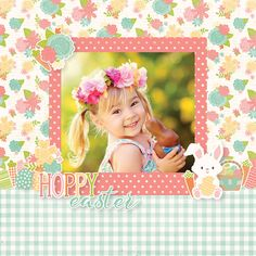 What You Need to Know to Make a Scrapbook – Scrapbooking Fun! Scrapbook Box, Baby Girl Scrapbook, Baby Scrapbook Pages, Scrapbook Layout Sketches, Scrapbook Designs, Scrapbook Paper Crafts, Scrapbooking Ideas, Hoppy Easter, 6 Photos