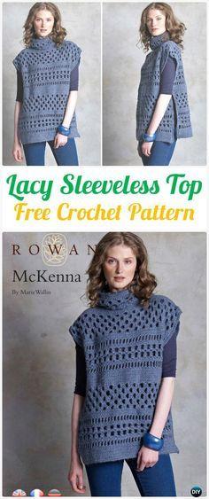 McKenna Crochet Pullover Sweater Tunic Free Pattern - Crochet Women Pullover Sweater Free Patterns