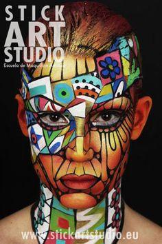 Maquillaje realizado por Corinne Perez, directora de Stick Art Studio.