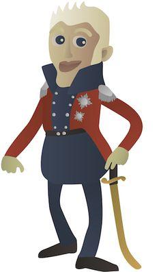 Historiedystens Frederik 6. (1768-1839). Frederik 6. var søn af den sindssyge Christian 7. og Caroline Mathilde, som blev bortvist fra hoffet, da Frederik var fire år gammel. Som 16-årig gennemførte han et statskup sammen med indflydelsesrige adelsmænd og overtog magten i Danmark. Han regerede i sin fars navn, indtil Christian 7. døde. Frederik 6. klædte sig helst i uniform, og det var sådan, at hans undersåtter mødte ham, når han spadserede i Frederiksberg Have.