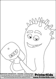 3a90339855e Monsters University - Spiky Squid  3 - Coloring Page Make Your Own Monster