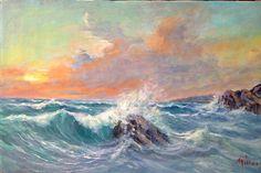 Seastorm Painting by M Illusi
