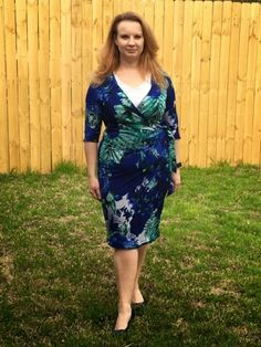 April's sew on and sew forth: McCalls Wrap Dress Sew Along McCall 6884