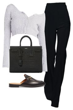 """""""Untitled #1542"""" by deamntr ❤ liked on Polyvore featuring Gucci and Yves Saint Laurent"""