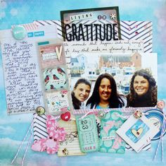 Ideas for recording gratitude in your scrapbooks by Marianna Barone @ shimelle.com