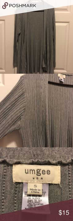 Umgee Grey Cardigan Good condition! Only worn a couple times, fits a little bigger (Medium/Large) Umgee Sweaters Cardigans