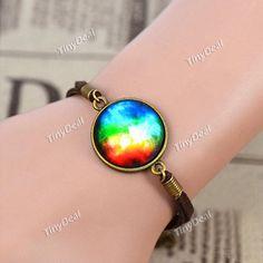 Galaxy Series Colorful Star Clusters Handmade Vintage Bracelet Europe Style Bracelet DJA-370304