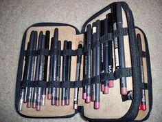 Colored Pencil Cases for Lipliner and Eyeliner Storage