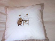 Tom & Bella Scatter Cushion (Cover & Inner) - Happy Hedgehog: