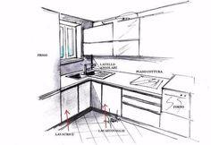 Lavello angolare inox in cucina dallo stile moderno