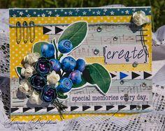 Postcard in the blueberry-lemon tones