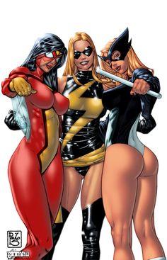 3 marvel girls - Part 2 by ginmau.deviantart.com on @deviantART
