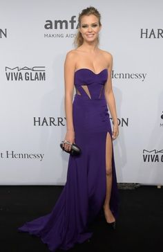 Josephine Skriver at the AmfAR Gala 2015. Click on the image to read more.