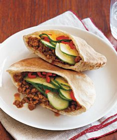 Gingery Pork and Cucumber Pitas Recipe