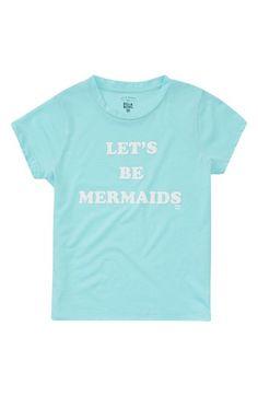 Main Image - Billabong Let's Be Mermaids Graphic Tee (Little Girls & Big Girls)