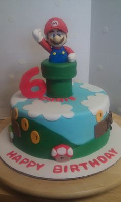 One of several Mario Bros. Cakes!