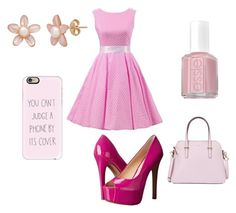 """""""Pink"""" by michy09 ❤ liked on Polyvore featuring Essie, Jessica Simpson, Casetify and Kate Spade"""