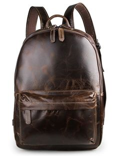 """Main Material: Genuine Leather Size: W:4.5 L:12"""" H:17"""" Interior: This bag has two large main compartments. The top compartment having two leather trimmed pouch pockets for small devices. This compartm"""