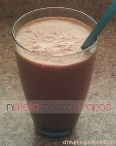 Nutella Mocha Frappé | Dreaming All Day @Angela Chopper ohhh you must steal some of A;s nutella