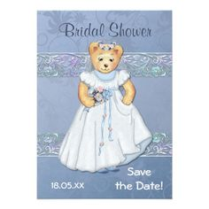 Teddy Bear Wedding Bridal Shower Invitation